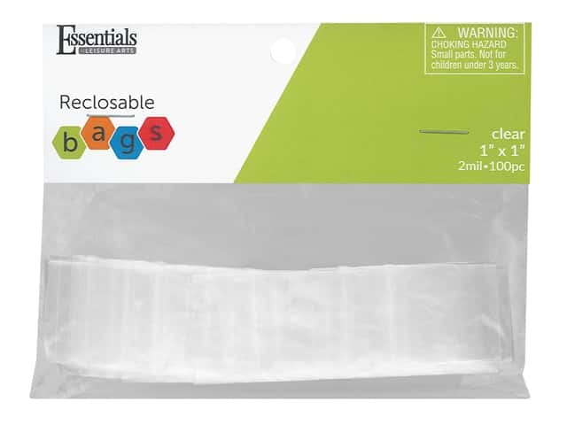 Essentials By Leisure Arts Reclosable Bag 2 mil 1 in. x 1 in. 100 pc