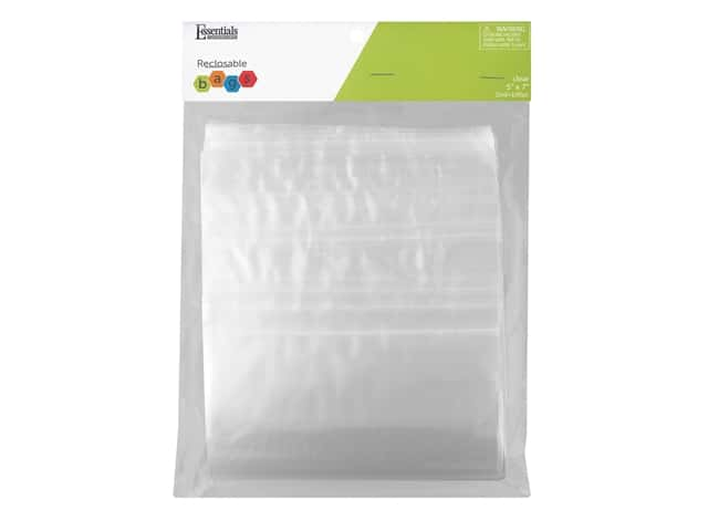 Essentials By Leisure Arts Reclosable Bag 2 mil 5 in. x 7 in. 100 pc