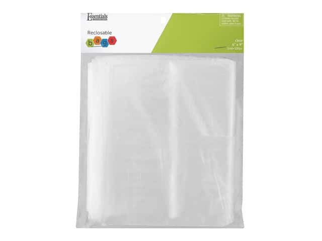 Essentials By Leisure Arts Reclosable Bag 2 mil 6 in. x 9 in. 100 pc
