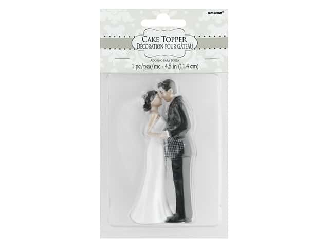 Amscan Collection Bridal Cake Topper 4 1/2 in. Bride & Groom