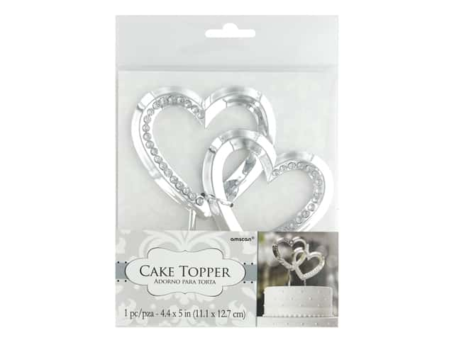 Amscan Collection Bridal Cake Topper Double Heart