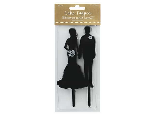 Amscan Collection Bridal Cake Topper Silhouette