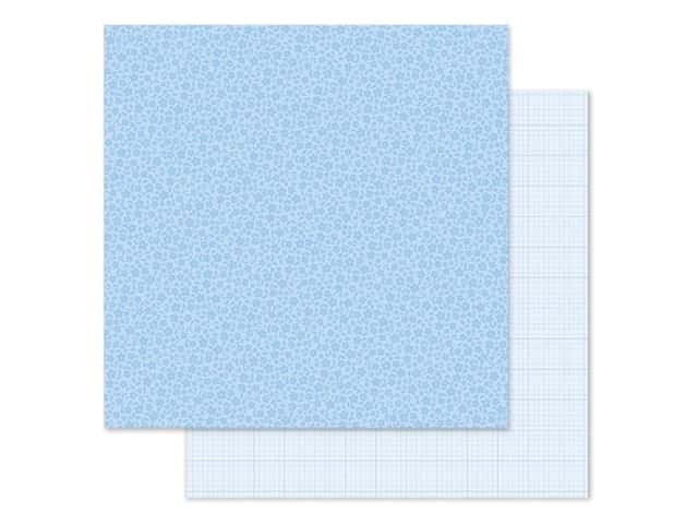 Doodlebug Collection Petite Prints Paper 12 in. x 12 in. Floral/Graph Bubble Blue