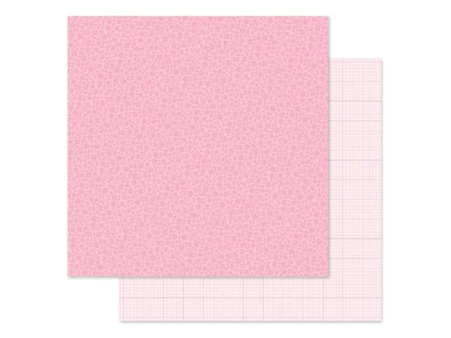 Doodlebug Collection Petite Prints Paper 12 in. x 12 in. Floral/Graph Cupcake