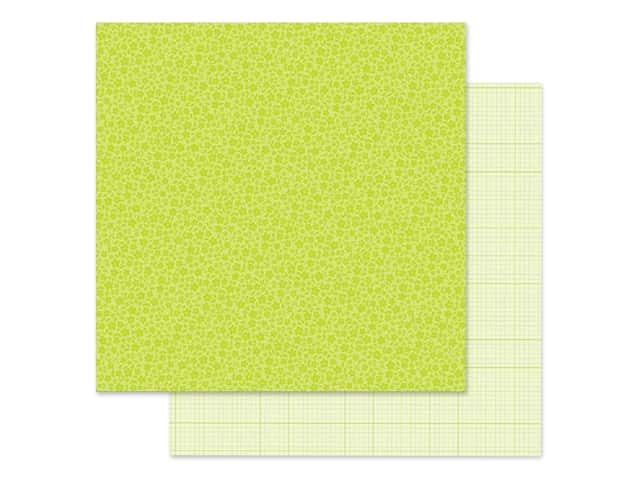Doodlebug Collection Petite Prints Paper 12 in. x 12 in. Floral/Graph Citrus