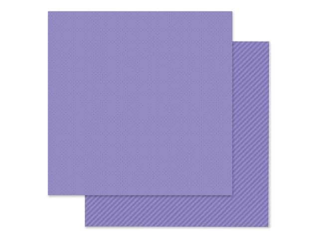 Doodlebug Collection Petite Prints Paper 12 in. x 12 in. Dot/Stripe Lilac