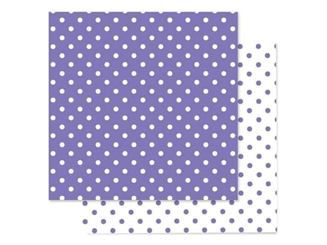 Doodlebug Paper 12 in. x 12 in. Swiss Dot Petite Lilac