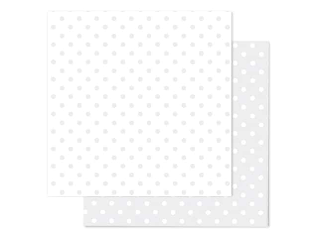 Doodlebug Paper 12 in. x 12 in. Swiss Dot Petite Lily White