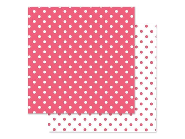 Doodlebug Paper 12 in. x 12 in. Swiss Dot Petite Cherry