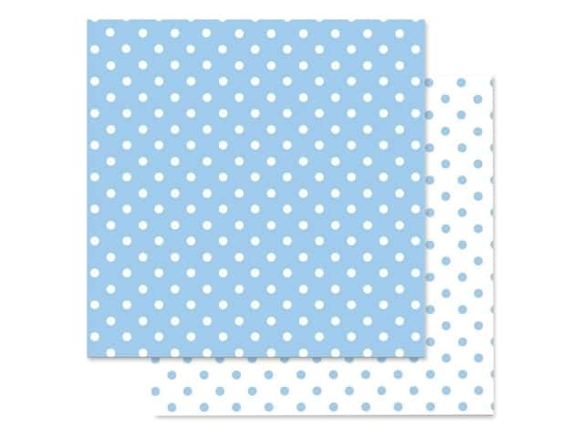 Doodlebug Paper 12 in. x 12 in. Swiss Dot Petite Bubble Blue