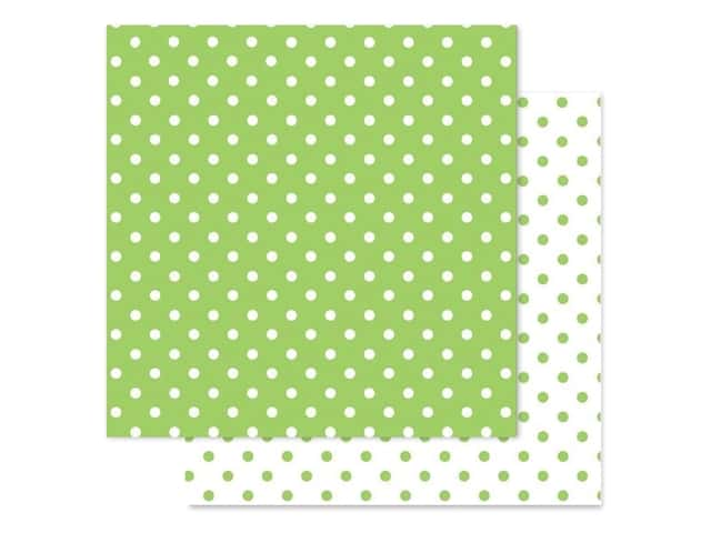 Doodlebug Paper 12 in. x 12 in. Swiss Dot Petite Limeade