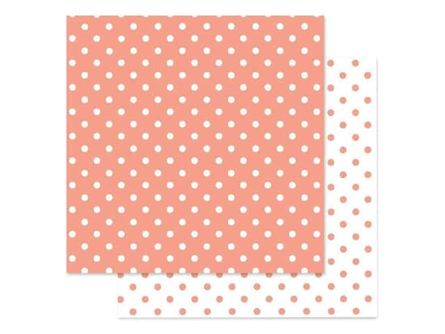 Doodlebug Paper 12 in. x 12 in. Swiss Dot Petite Coral