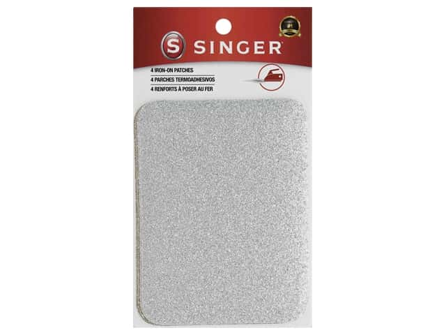 Singer Notions Patches Iron On Glitter Silver/Gold 4 pc