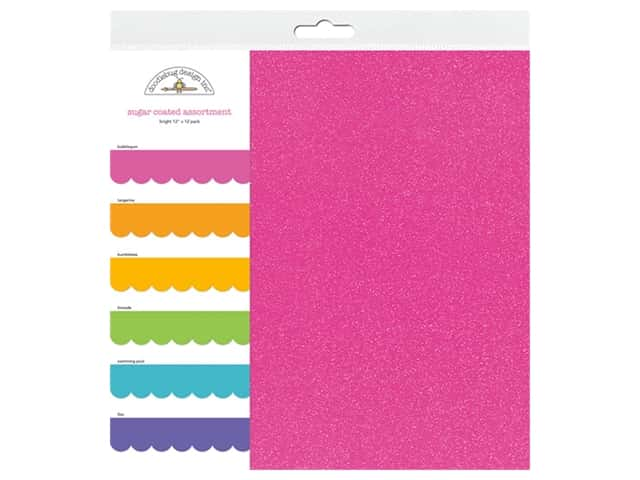 Doodlebug 12 x 12 in. Paper Pack - Sugar Coated - Bright