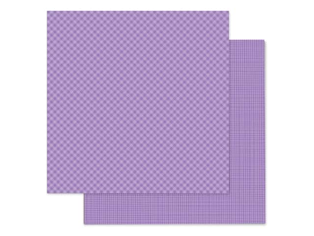 Doodlebug 12 x 12 in. Paper Petite Prints Gingham Linen Orchid