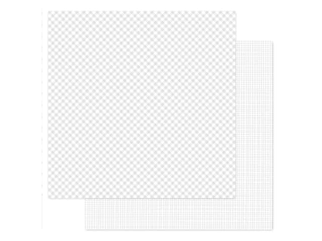 Doodlebug 12 x 12 in. Paper Petite Prints Gingham Linen Lily White