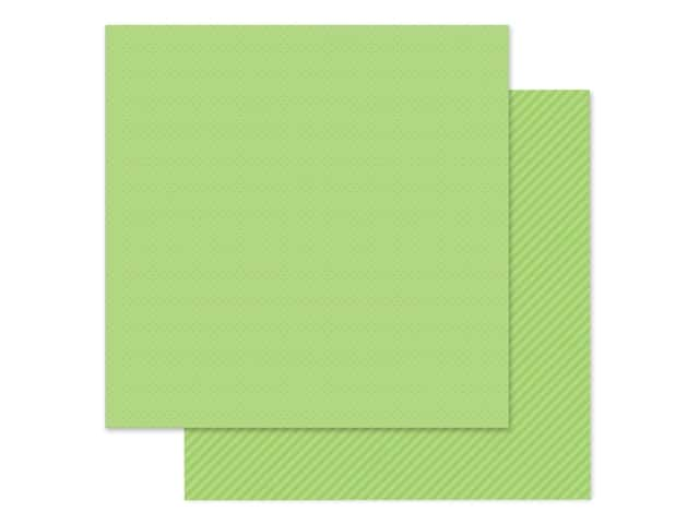 Doodlebug Collection Petite Prints Paper 12 in. x 12 in. Dot/Stripe Limeade