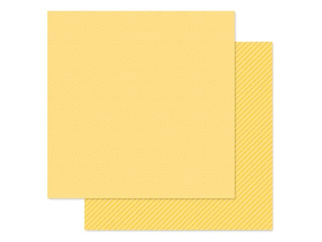 Doodlebug Collection Petite Prints Paper 12 in. x 12 in. Dot/Stripe Bumblebee