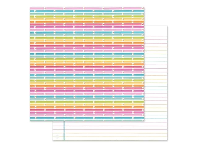 Doodlebug Collection Cute & Crafty Paper 12 in. x 12 in. Bright Ideas