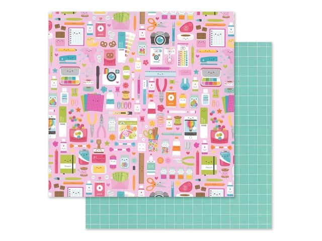 Doodlebug Collection Cute & Crafty Paper 12 in. x 12 in. Cute & Crafty