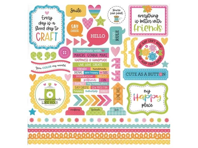 Doodlebug Collection Cute & Crafty Sticker This & That