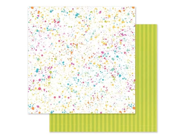 Doodlebug Collection Cute & Crafty Paper 12 in. x 12 in. Colorful Canvas