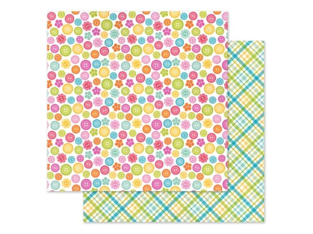Doodlebug Collection Cute & Crafty Paper 12 in. x 12 in. Cute As A Button