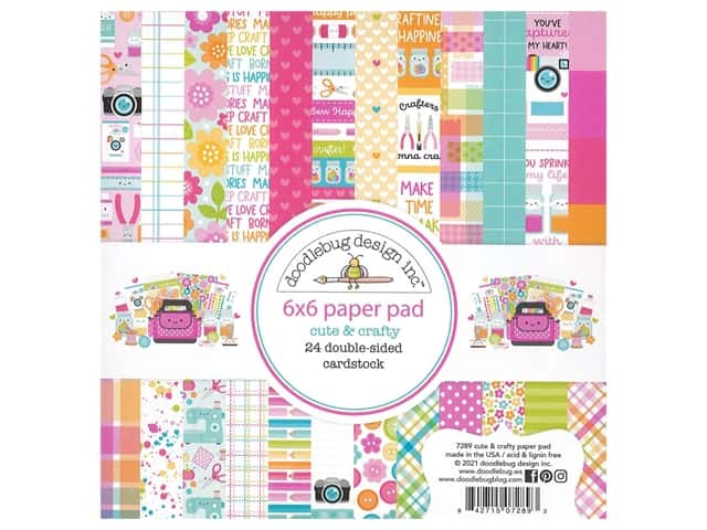 Doodlebug Collection Cute & Crafty Paper Pad 6 in. x 6 in.