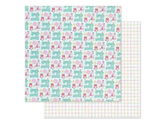 Doodlebug Collection Cute & Crafty Paper 12 in. x 12 in. Sew Cute