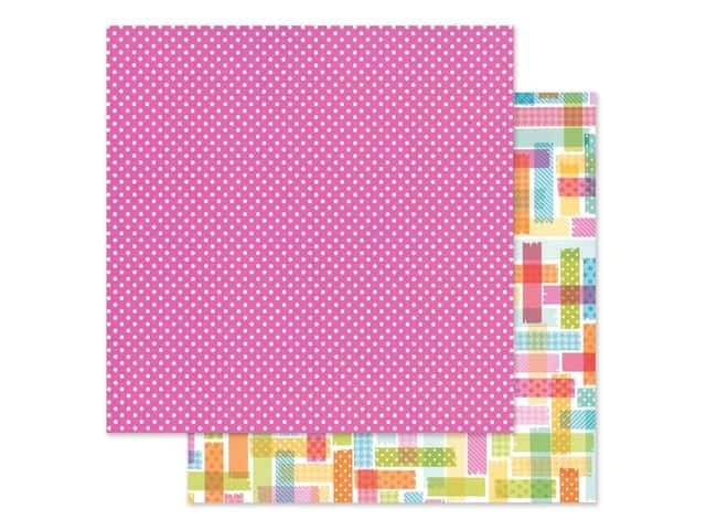 Doodlebug Collection Cute & Crafty Paper 12 in. x 12 in. Pretty In Pink