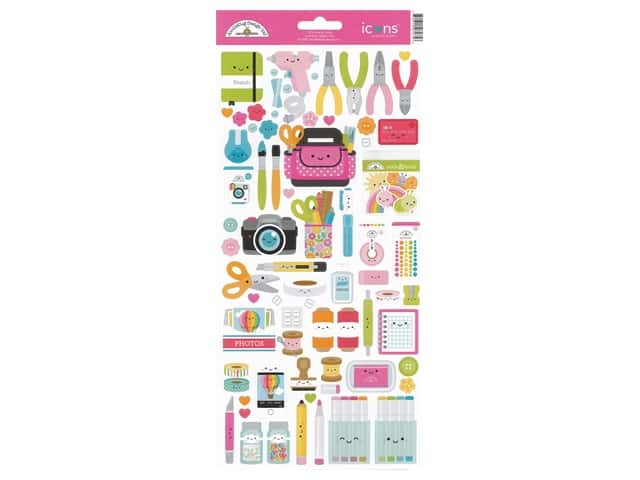 Doodlebug Collection Cute & Crafty Sticker Icons