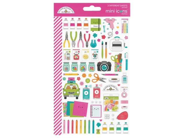 Doodlebug Collection Cute & Crafty Mini Sticker Icons
