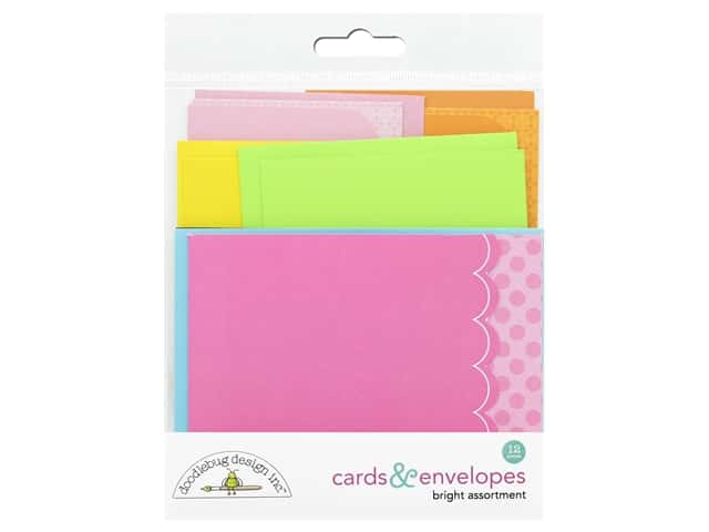 Doodlebug Collection Cute & Crafty Cards & Envelopes Bright