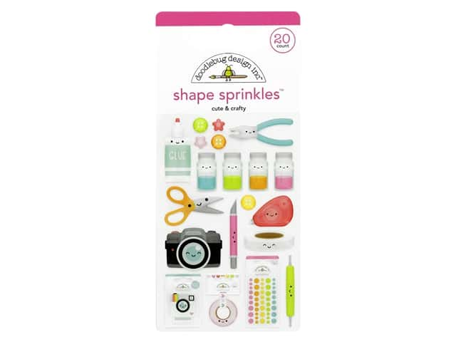 Doodlebug Collection Cute & Crafty Sprinkles Shapes
