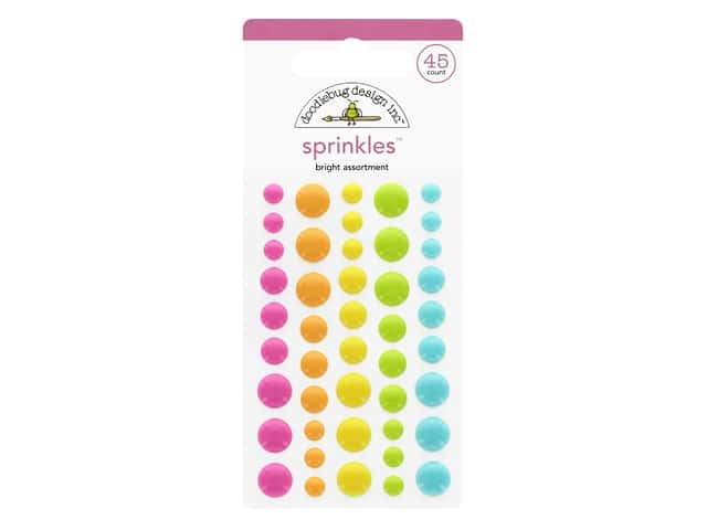 Doodlebug Collection Cute & Crafty Sprinkles Bright Assortment