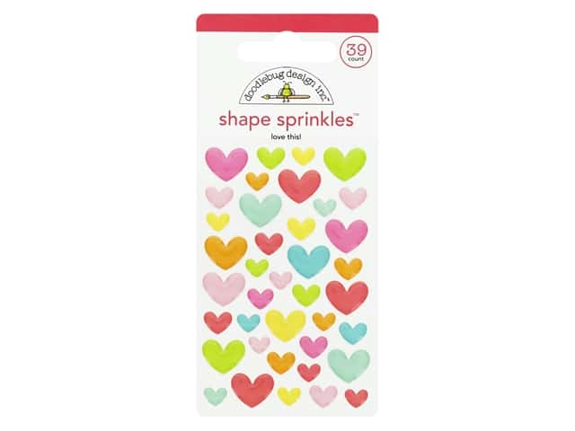 Doodlebug Collection Cute & Crafty Sprinkles Shapes Love This
