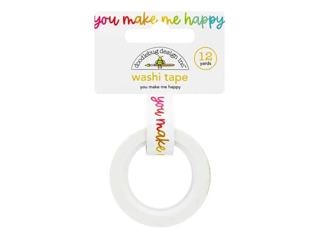 Doodlebug Collection Cute & Crafty Washi Tape You Make Me Happy
