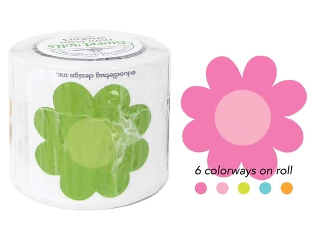 Doodlebug Sweet Roll Stickers Spring Garden Blossoms