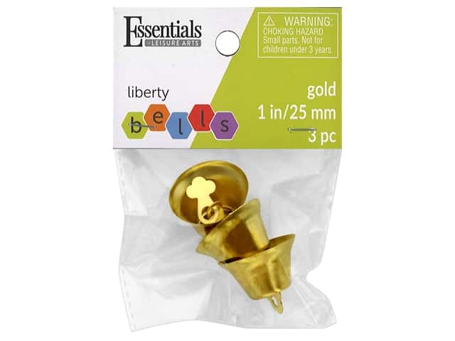 Essentials By Leisure Arts Bell Liberty 25 mm Gold 3 pc