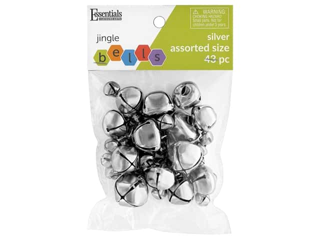 Essentials By Leisure Arts Bell Jingle Assorted Sizes Silver 43 pc