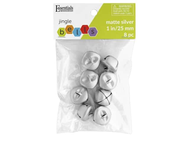 Essentials By Leisure Arts Bell Jingle 25 mm Matte Silver 8 pc