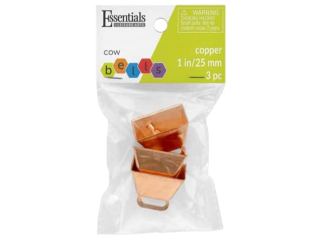 Essentials By Leisure Arts Bell Cow 25 mm Copper 3 pc