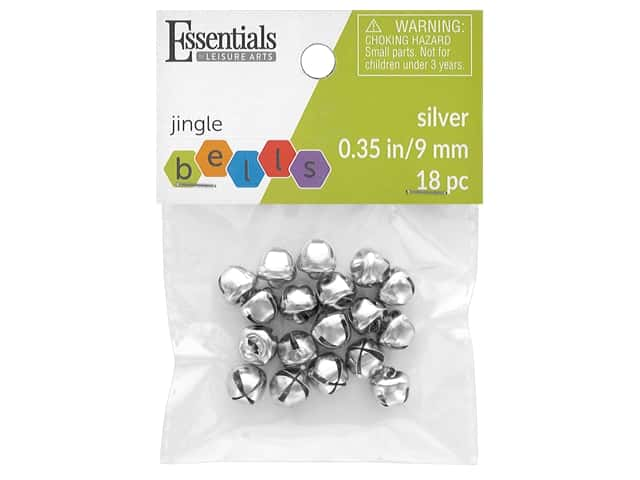 Essentials By Leisure Arts Bell Jingle 9 mm Silver 18 pc