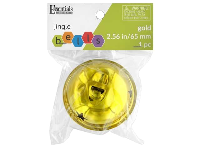 Essentials By Leisure Arts Bell Jingle 2.56 in. Gold 1 pc