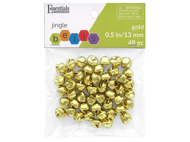 Essentials By Leisure Arts Bell Jingle 13 mm Gold 48 pc
