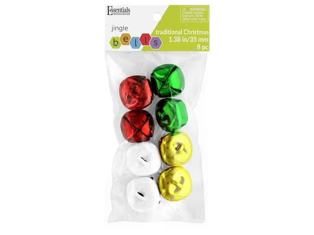 Essentials By Leisure Arts Bell Jingle 35 mm Traditional Christmas 8 pc