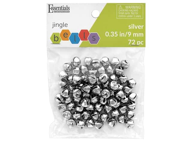 Essentials By Leisure Arts Bell Jingle 9 mm Silver 72 pc