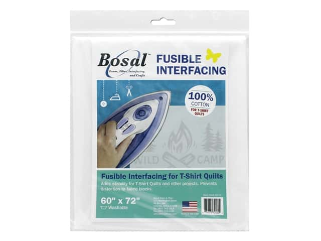 Bosal Interfacing Fusible T Shirt Quilts 60 in. x 72 in. White