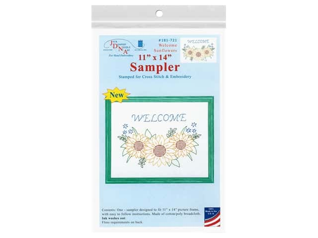 Jack Dempsey 11 x 14 in. Sampler - Welcome Sunflowers