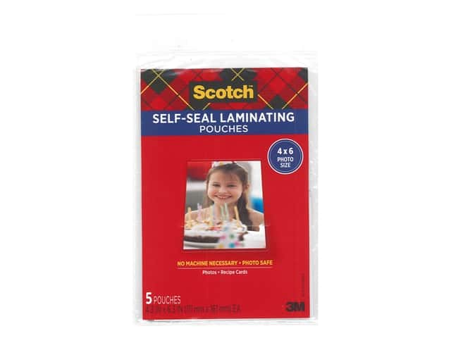 Scotch Self Seal Laminating Pouch - 4 x 6 in. - Glossy 5 pc.
